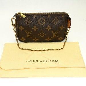Auth Louis Vuitton Mini Pochette Accessoires